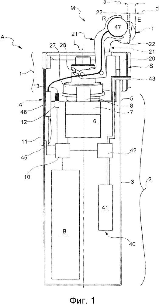 Массажное устройство с массажной насадкой, снабженной перкуссионным пальцем