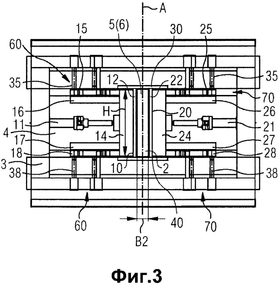 Способ и устройство для изготовления заготовок кирпичей для кирпичной кладки, в частности песчано-известковых кирпичей, содержащее регулируемые формовочные стенки