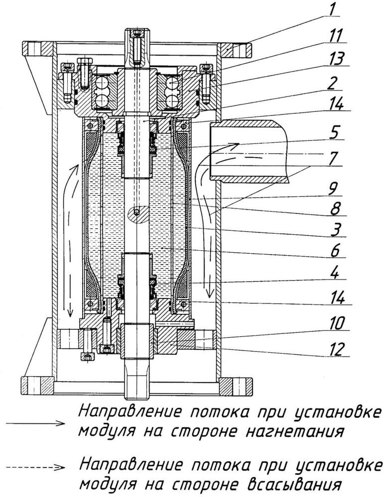 Уплотнительный герметичный модуль центробежного насоса
