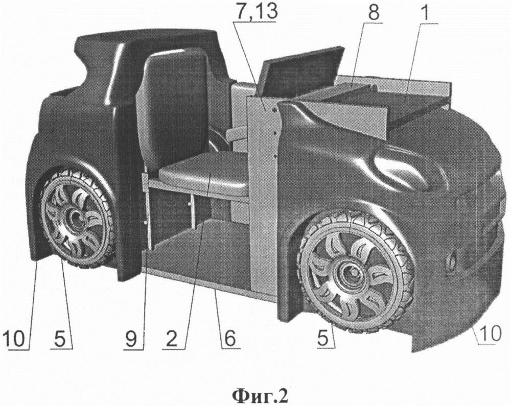 Стол-трансформер машинка и способ его трансформации