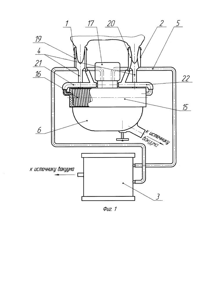 Двухтактный доильный аппарат попарного доения