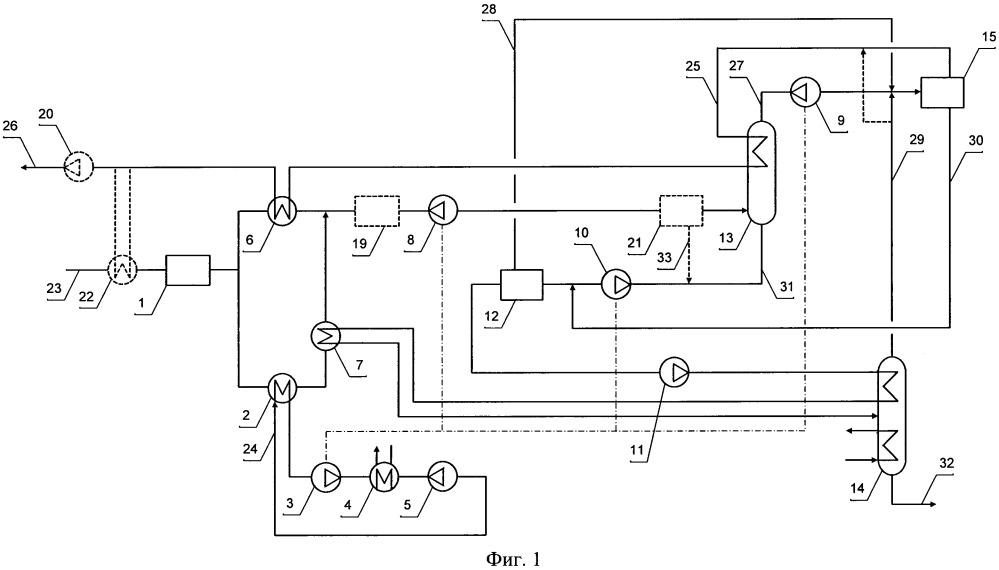Установка низкотемпературной сепарации с дефлегмацией нтсд для переработки природного газа с выделением углеводородов c2+ (варианты)