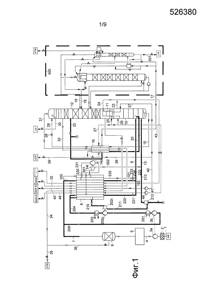Способ и устройство для низкотемпературного разделения воздуха
