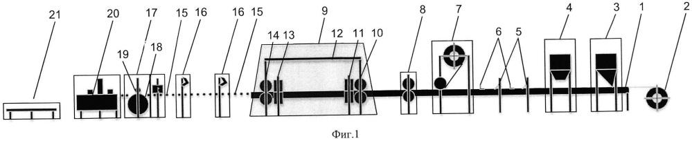 Устройство для изготовления листовых изделий из полимерно-композитных материалов методом непрерывного формирования
