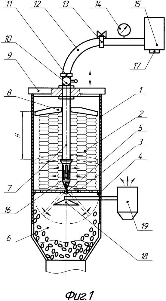 Устройство для разрушения прессованного тюка хмеля