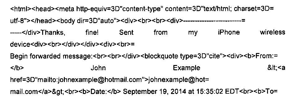 Способ обработки сообщений электронной почты, содержащих цитируемый текст, и компьютер, используемый в нем
