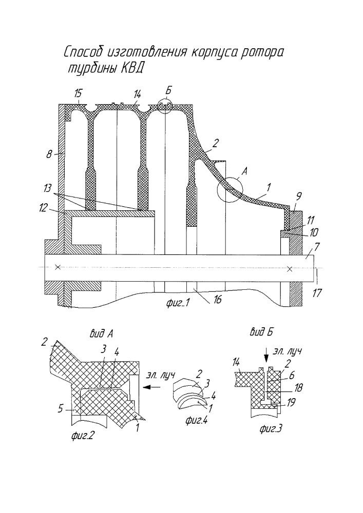 Способ изготовления ротора турбомашины