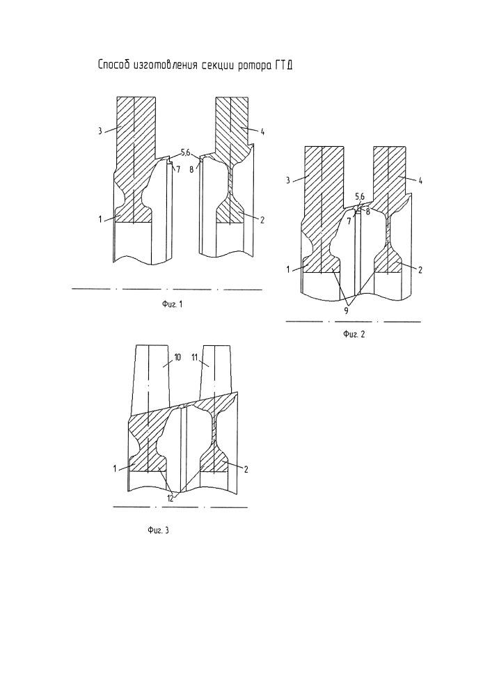 Способ изготовления секций ротора газотурбинного двигателя