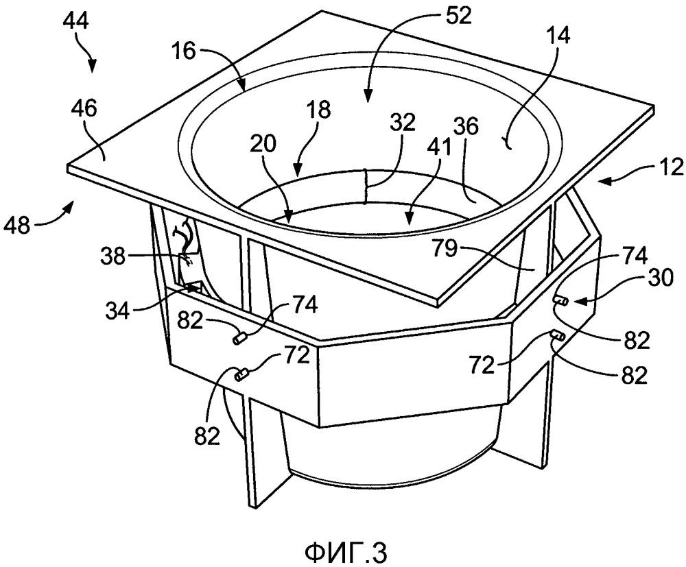 Узел держателя для чашки, консоль транспортного средства и модульная система держателя для чашки