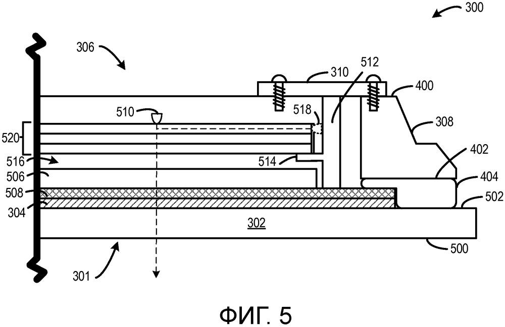 Конструкция широкоформатного отображающего устройства