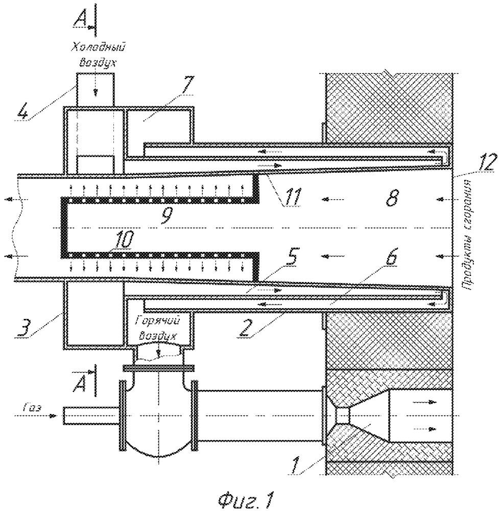 Рекуперативно-горелочный блок