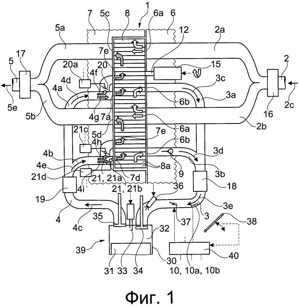 Способ и устройство для регулирования давления наддува в двигателе внутреннего сгорания с нагнетателем системы волнового наддува