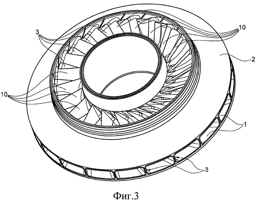 Лопастное колесо с защитными элементами и центробежный компрессор