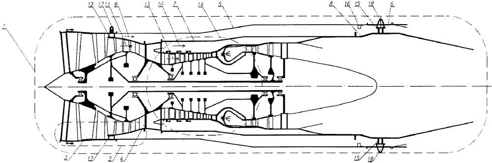 Трехконтурный турбореактивный двигатель летательного аппарата