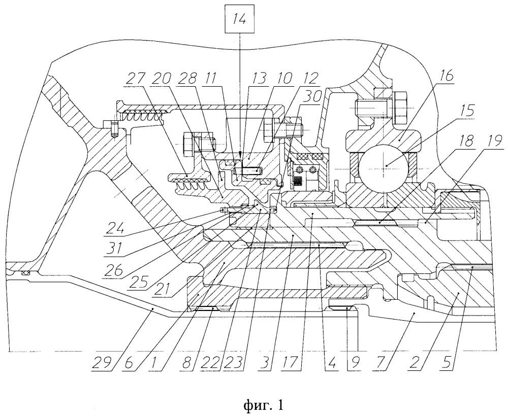Узел соединения валов ротора низкого давления газотурбинного двигателя