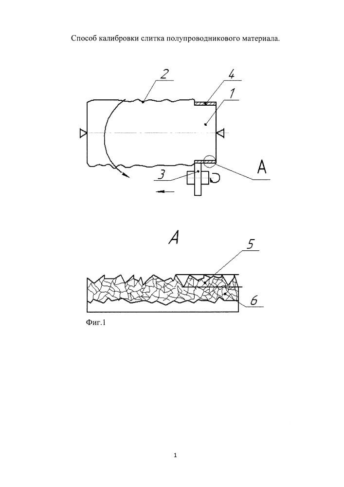 Способ калибровки слитка полупроводникового материала