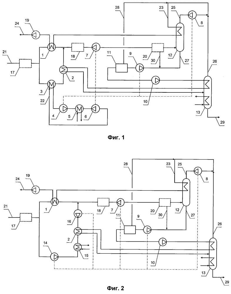 Установка низкотемпературной дефлегмации нтд для переработки природного газа с получением углеводородов c2+ (варианты)