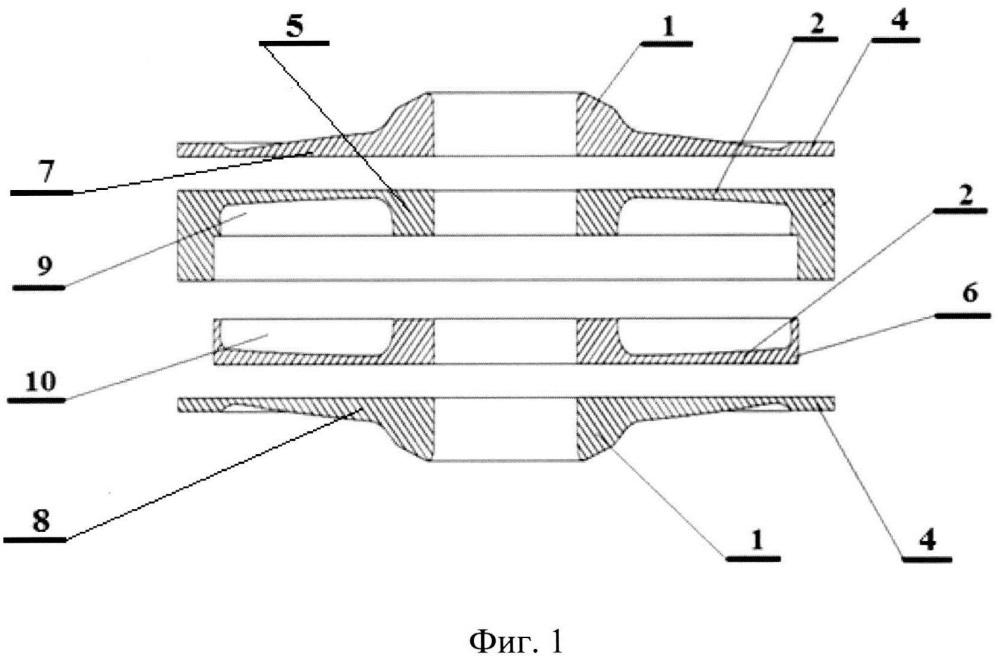 Полый диск ротора турбины и способ его изготовления