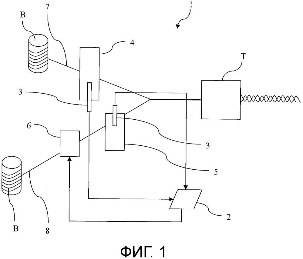 Устройство для контролирования диаметра баллона нити