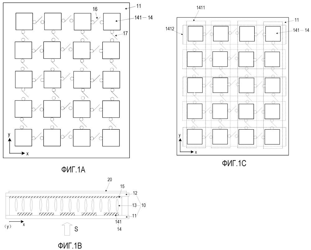 Параллаксный барьер, устройство отображения и соответствующий способ управления состоянием дисплея