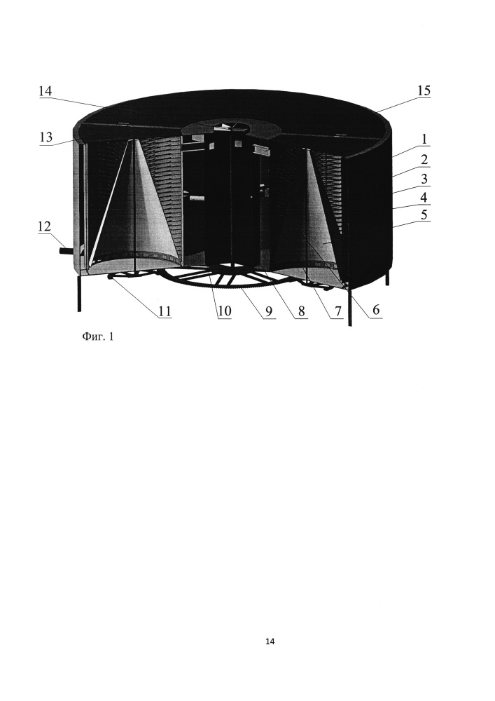 Сверхвысокочастотная многорезонаторная установка для отделения пуха от шкуры кроликов
