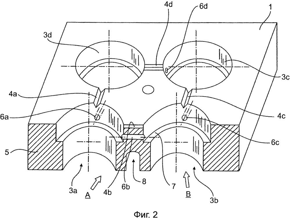 Нагруженная термически и/или механически стенка проводящего жидкость и/или газ конструктивного элемента, в частности головки блока цилиндров двигателя внутреннего сгорания