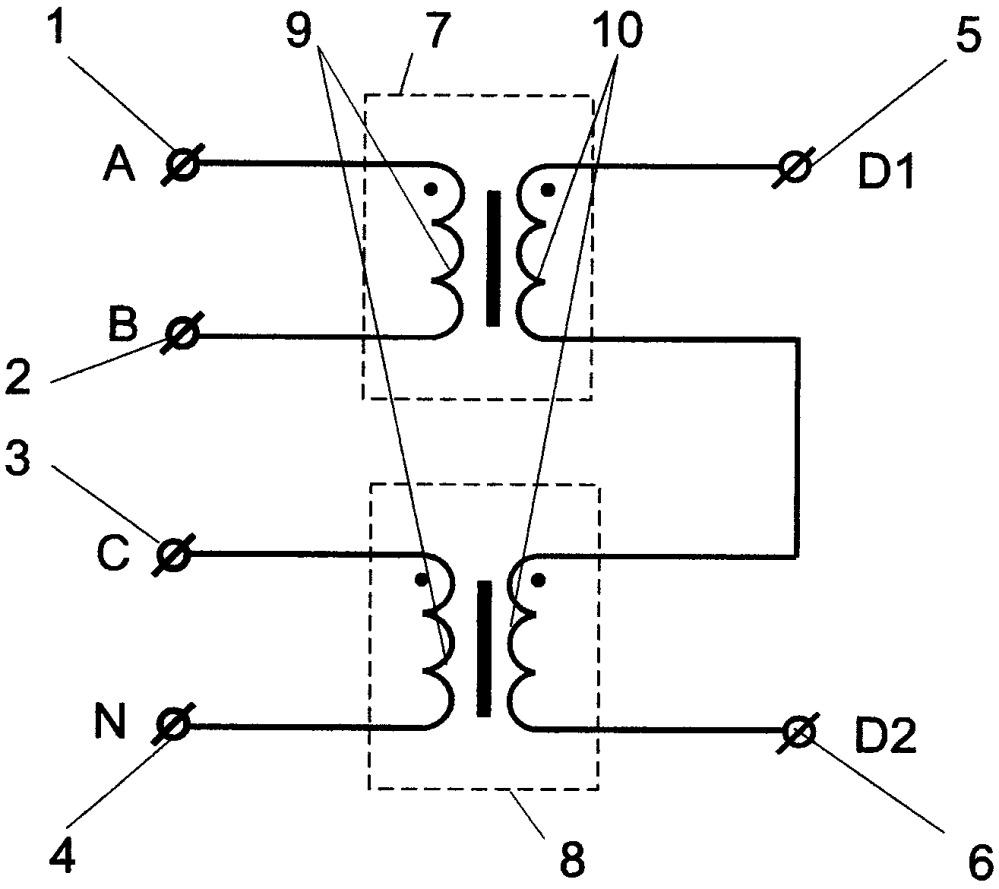 Устройство равномерного распределения однофазной нагрузки по фазам трехфазной сети