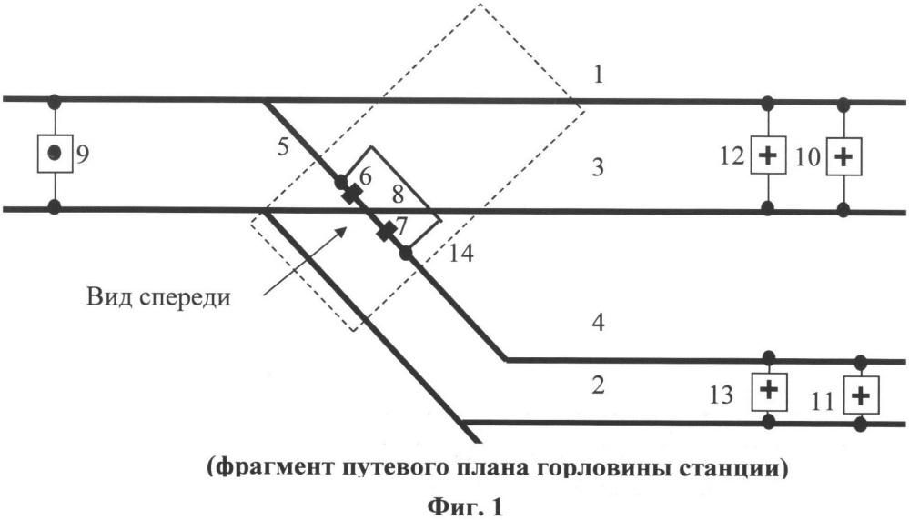 Способ контроля состояний разветвленных рельсовых цепей без изолирующих стыков и дроссель-трансформаторов