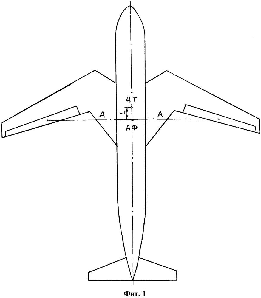 Крыло летательного аппарата с прямой и обратной стреловидностью