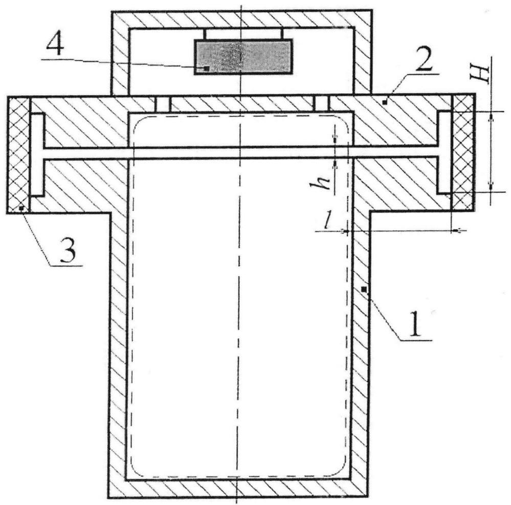 Отпаянная камера для генератора высокочастотных импульсов на основе разряда с полым катодом