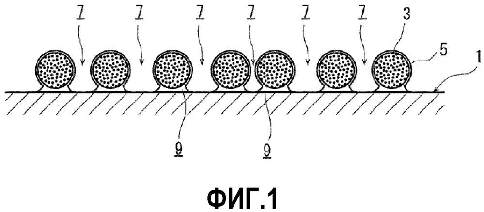Конструкция, имеющая твердые частицы, распределенные на ее поверхностях