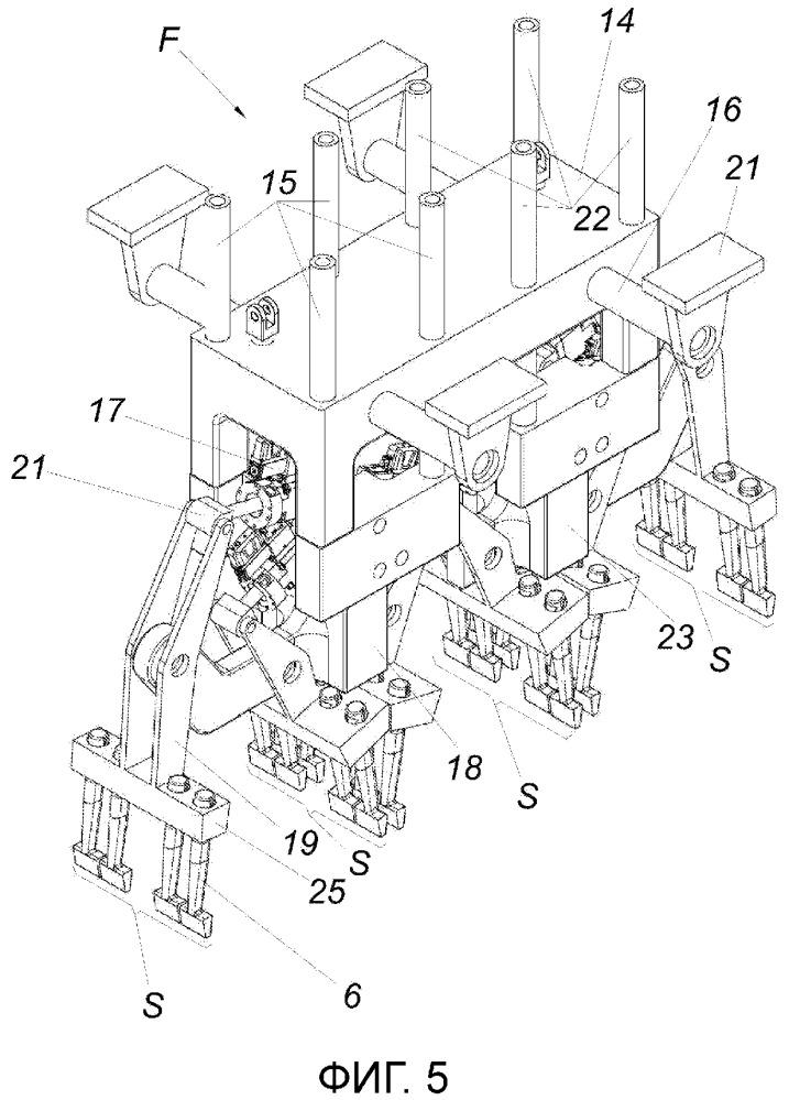 Шпалоподбивочный агрегат для шпалоподбивочной машины
