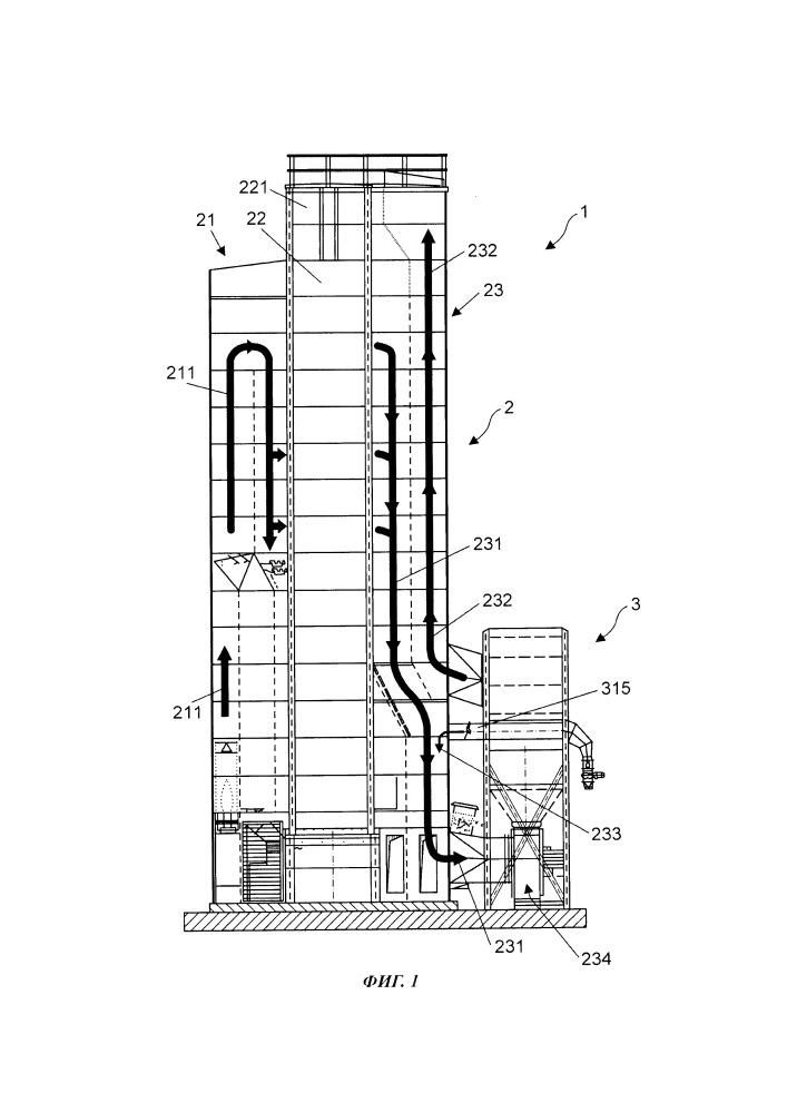 Устройство и способ для эффективного выделения частиц из воздушного потока