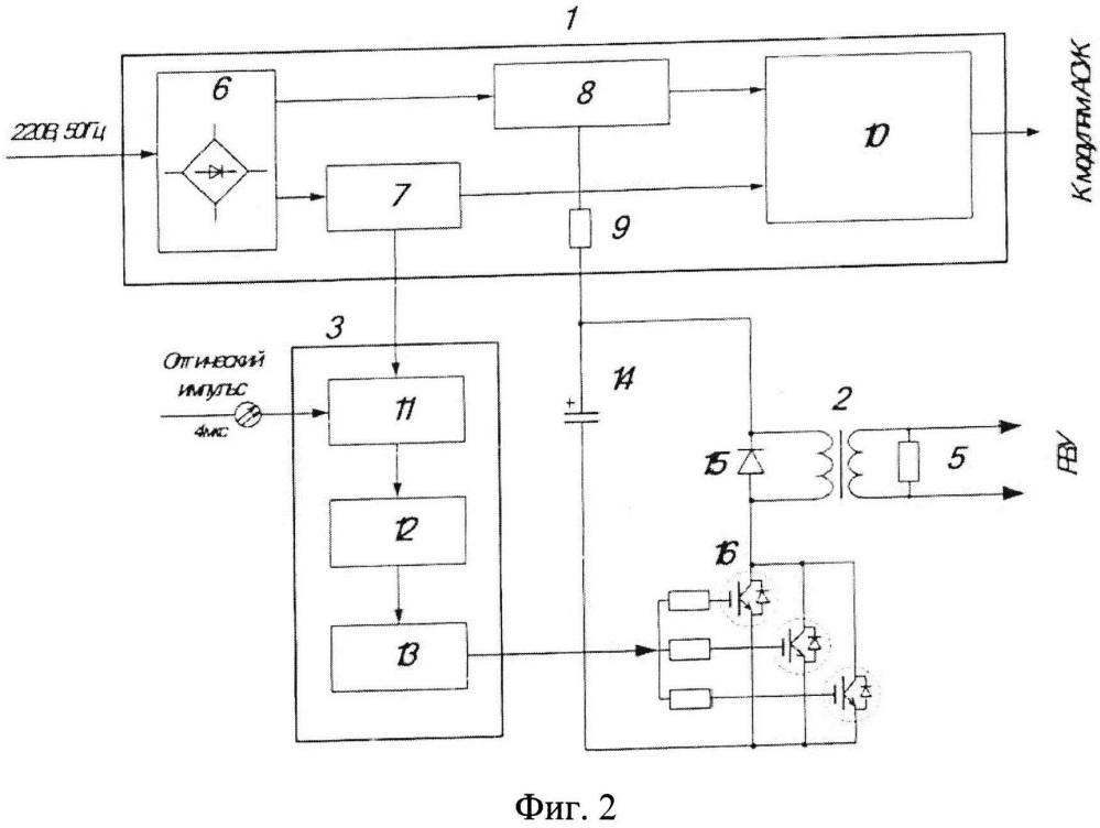 Генератор высоковольтных импульсов для запуска управляемых вакуумных разрядников