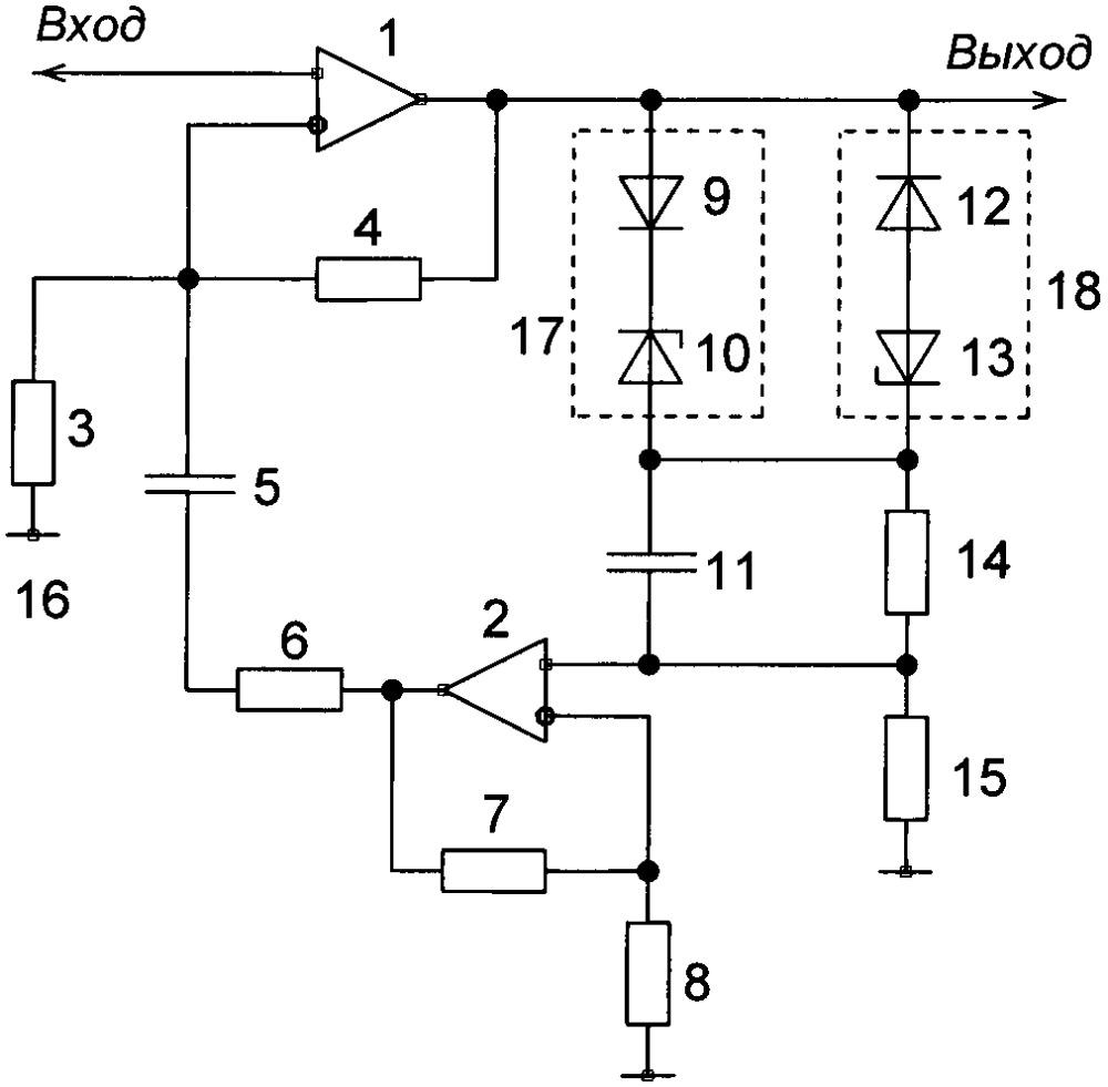 Схема автоматической регулировки усиления электрических сигналов