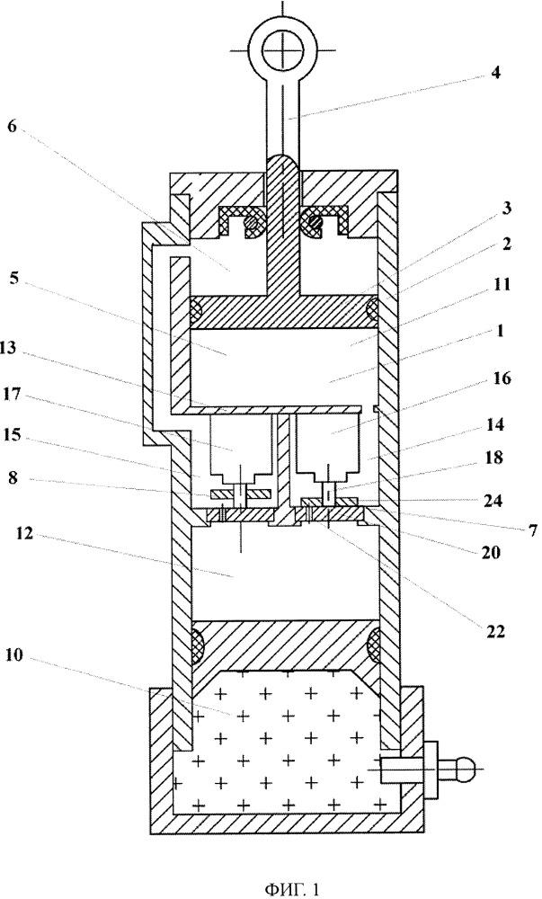 Гидропневматический амортизатор