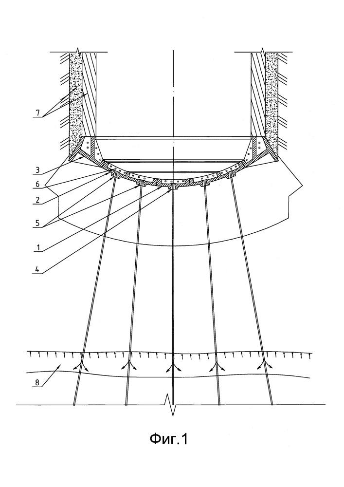 Способ тампонажа горных пород при строительстве вертикальных шахтных стволов
