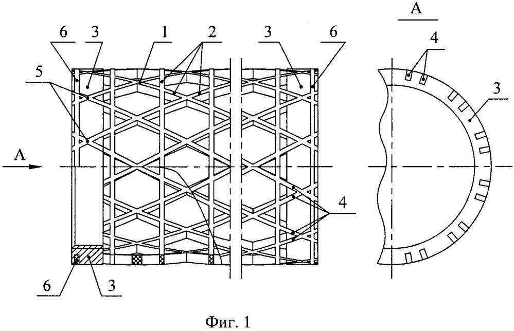 Сетчатая оболочка из композиционных материалов