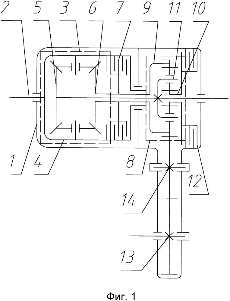 Раздаточная коробка с изменяемой асимметрией