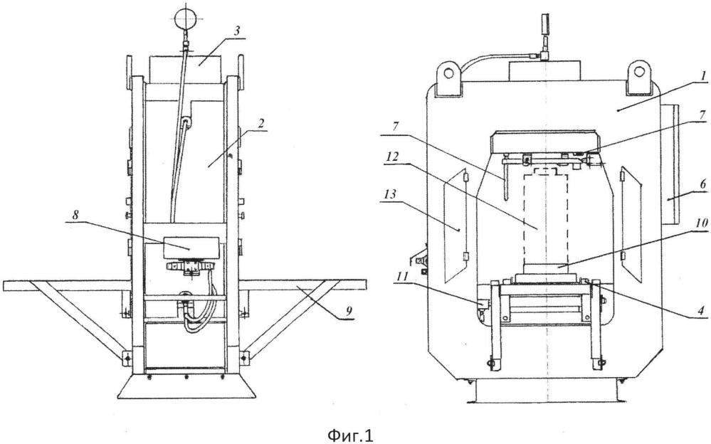 Стенд для испытания эластомерных поглощающих аппаратов подвижного состава железнодорожного транспорта