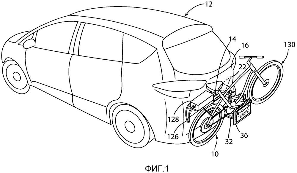 Механизм для крепления багажника для велосипеда к транспортному средству (варианты) и способ крепления багажника для велосипеда к транспортному средству