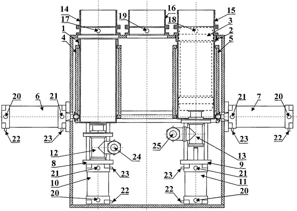 Автоматический стрелочный перевод контейнерного пневмотранспорта