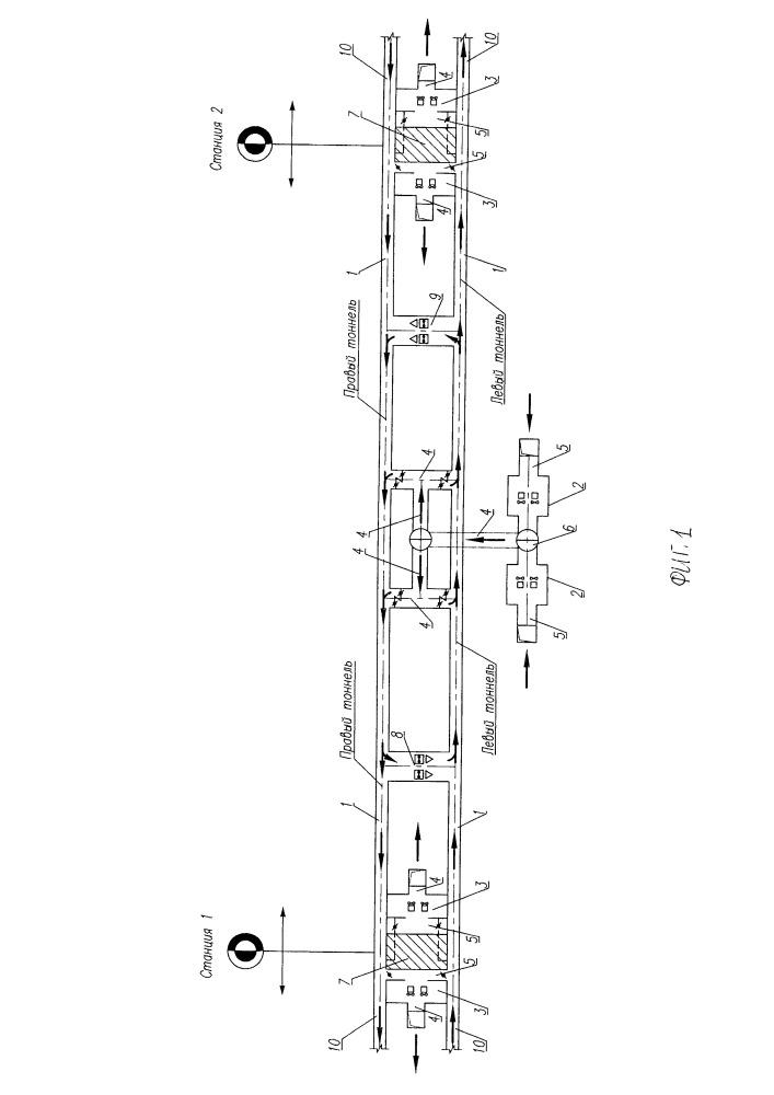 Система вентиляции перегонных тоннелей между станциями метрополитена