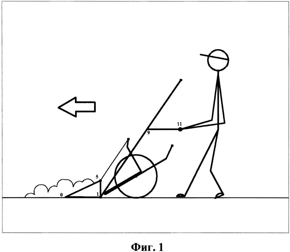 Лопата-погрузчик рычажно-шарнирная с выпадающим упором