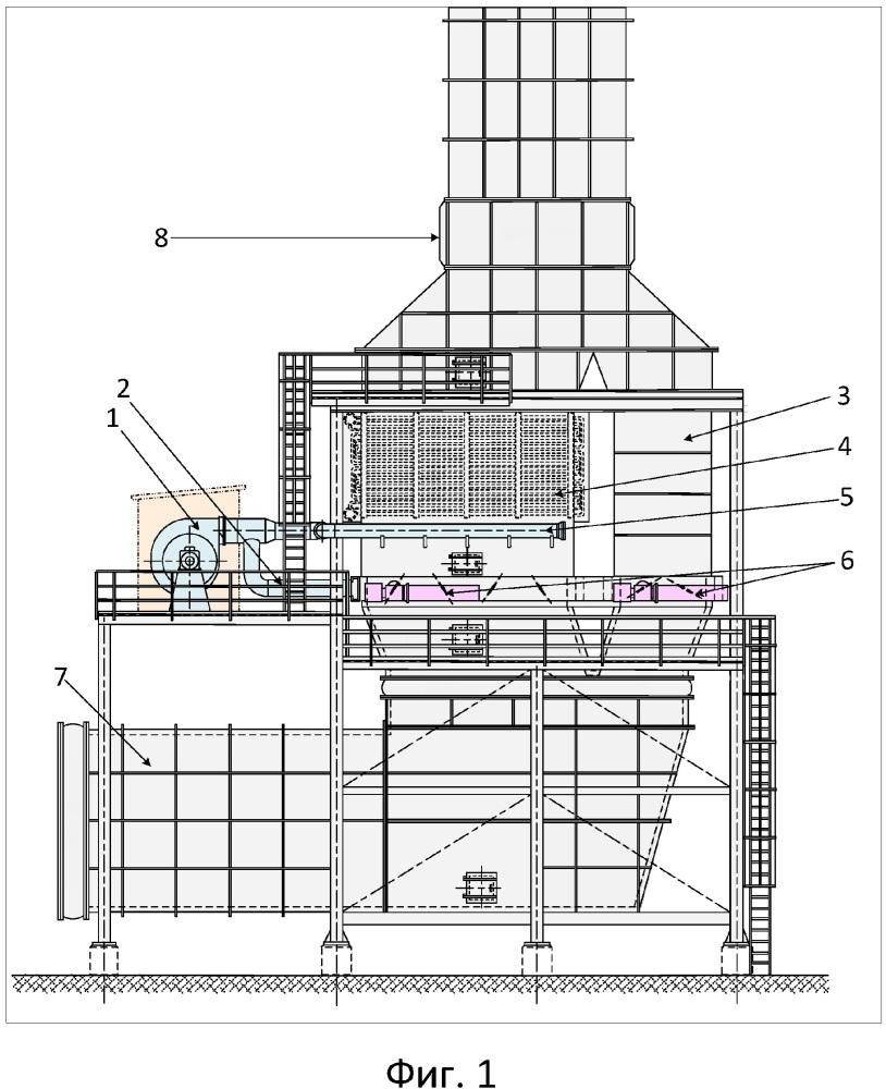 Выхлопная система газоперекачивающего агрегата