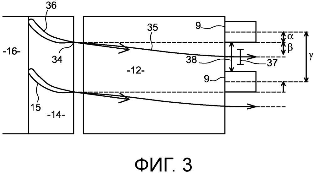 Авиационный двигатель с установкой диффузора под азимутальным углом относительно камеры сгорания