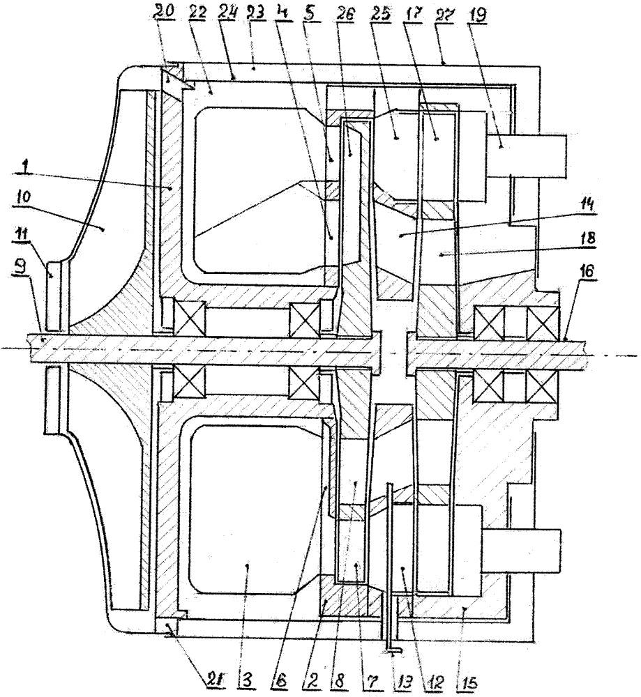 Двухвальный газотурбинный двигатель