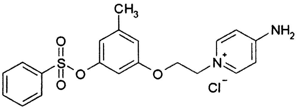 Вещество 4-амино-1-{ 2-[3-метил-5-(бензолсульфонилокси)фенокси] этил} -пиридиний хлорид, обладающее свойствами биологически активного агента, влияющими на естественно текущие процессы свертываемости крови млекопитающих, антикоагулянт на его основе и способ его получения путем химического синтеза