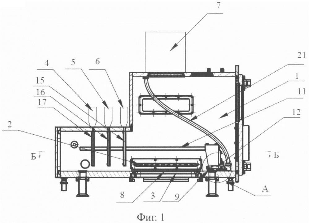 Устройство для послойного изготовления объемных изделий из двух и более порошковых компонентов
