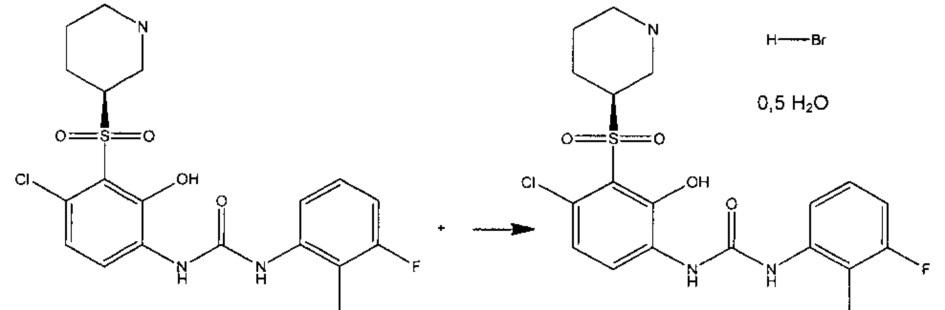 Гидробромидная соль n-(4-хлор-2-гидрокси-3-((3s)-3-пиперидинилсульфонил)фенил)-n-(3-фтор-2-метилфенил)мочевины